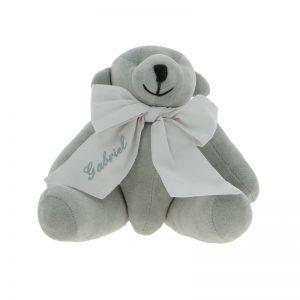 Peluche ourson avec un ruban personnalisé au prenom de votre choix)by Matao