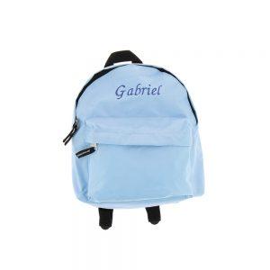 Mini sac à dos bleu ciel personnalisé by Matao