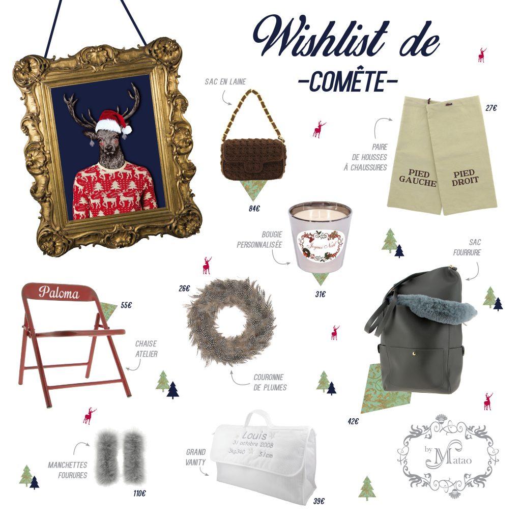 WIshlist de Noël par Comète pour by Matao