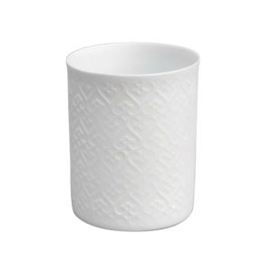 Photophore en porcelaine blanc pour une ambiance cosy by Matao